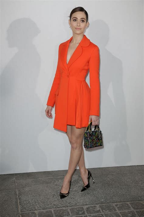 Fashion Week Christian by Emmy Rossum At Christian Fashion Show At