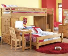creekside taffy step bunk bed w desk and chest