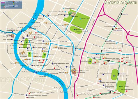 bangkok map tourist attractions bangkok map explore most locations best