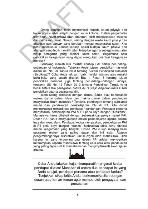 Pendidikan Agama Islam Di Perguruan Tinggi pendidikan agama islam dalam perguruan tinggi