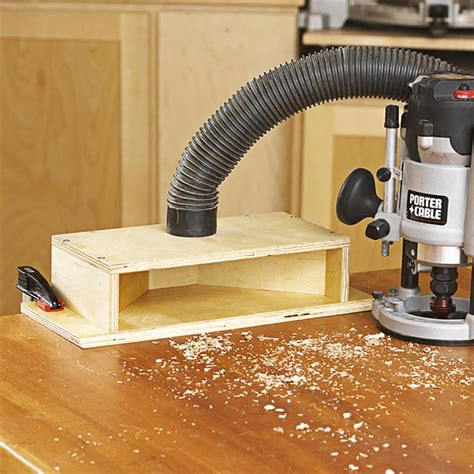 dust collector for woodworking dual purpose dust chute woodworking plan from wood magazine