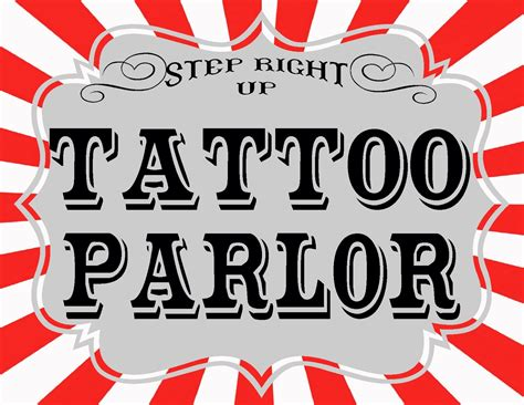 tattoo shop games carnival printables revisited the balloon