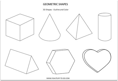 How To Make 3d Geometric Shapes Out Of Paper - free coloring pages of 3d
