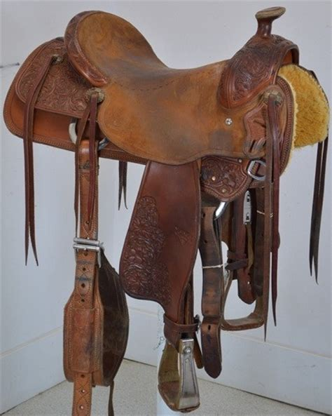 Handmade Ranch Saddles - used 16 quot oliver saddle shop handmade ranch saddle