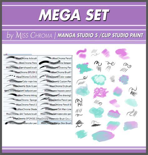 pattern brush manga studio mega set digital brushes for manga studio5 by misschroma