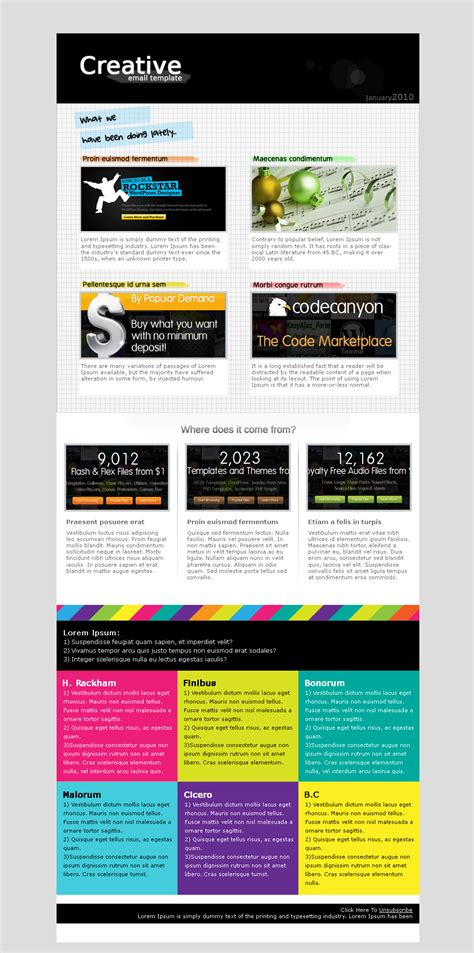 Creative Email Template By Hayleme Themeforest Creative Email Templates