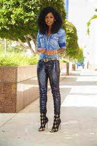 style pantry denim shirt sequin