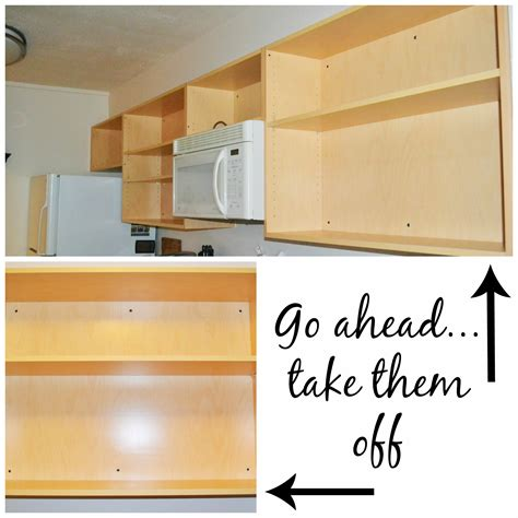 How To Remove A Kitchen Cabinet | kitchen improvement removing cabinet doors