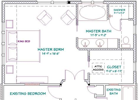 master bedroom and bathroom floor plans the design challenges presented included