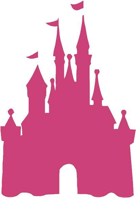 Disney World Castle Outline by Disney Castle Princess 22l X 32hpink Cinderella