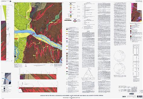 maryland bedrock map geologic map of the seneca quadrangle montgomery county