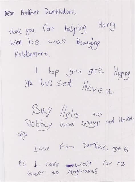 Apology Letter In Kiswahili An Adorable Letter To Dumbledore D Harry Potter Fan 18103729 Fanpop