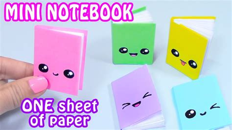 How To Make Paper Notebook - diy mini notebooks one sheet of paper diy back to school