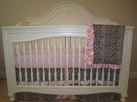 leopard crib bedding pink leopard baby bedding set 3 piece crib bedding set no