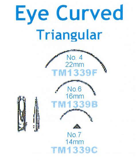 Suture Needle Hecting Eye Remedy Per Box eyed eye curved triangular needle