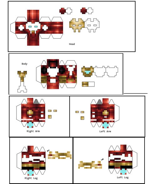 Iron Papercraft - papercraft 3d iron