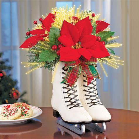 how to make a christmas yard poinsettia lighted skates poinsettia centerpiece fiber optic lighted ebay