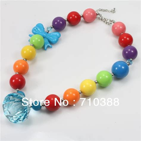 big for toddler necklaces aliexpress buy rainbow chunky bubblegum solid big