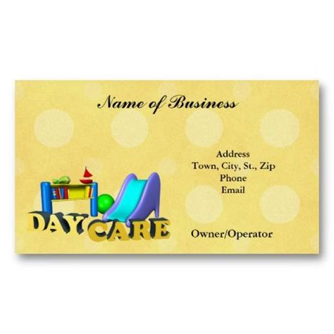 children s business cards templates 17 best images about child care business cards on