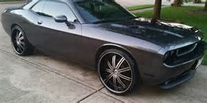 eddoee s dodge challenger on 24 s big rims custom wheels