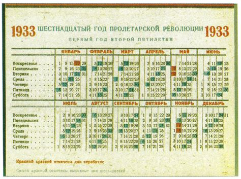 Calendario De 1930 File Soviet Calendar 1933 Color Jpg Wikimedia Commons