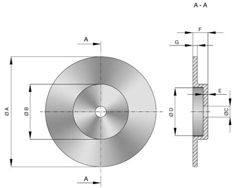 Dimensions Of A by Caliper Brake