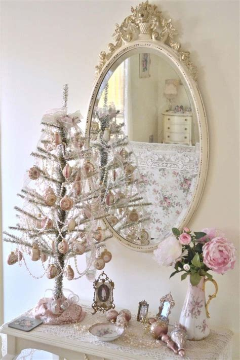 decorating tiny chic tree vintage tabletop tree pictures photos and