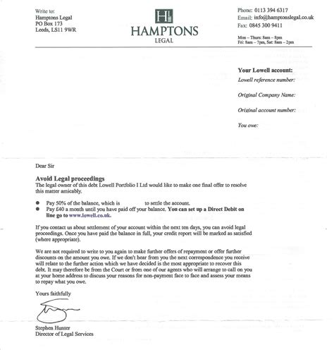 appointment letter without salary sle settlement offer letter to insurance company