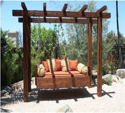 pergola swing garden treasures pergola with swing design garden landscape