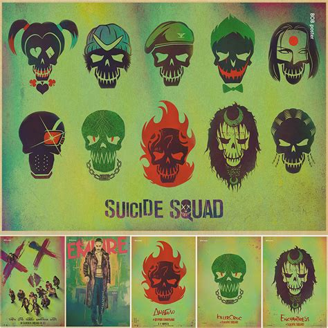 Cafe Decor Poster Batman vintage batman harley quinn squad poster