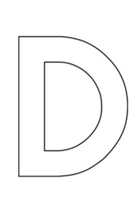 capital letter d template uppercase letter d template for alphabet crafts