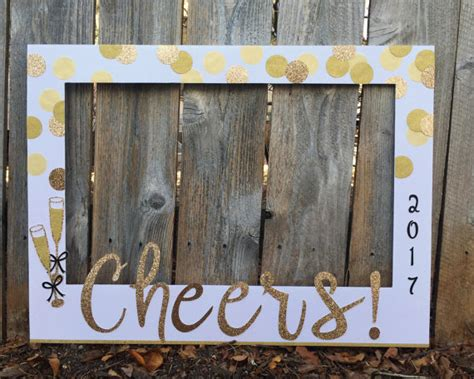 build a new year new year s photo booth frame horizontal