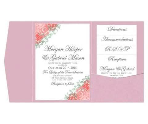 wedding invitations on microsoft word pocket wedding invitation template set instant