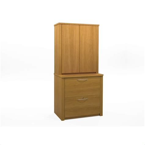 embassy 2 drawer lateral wood file cabinet with hutch
