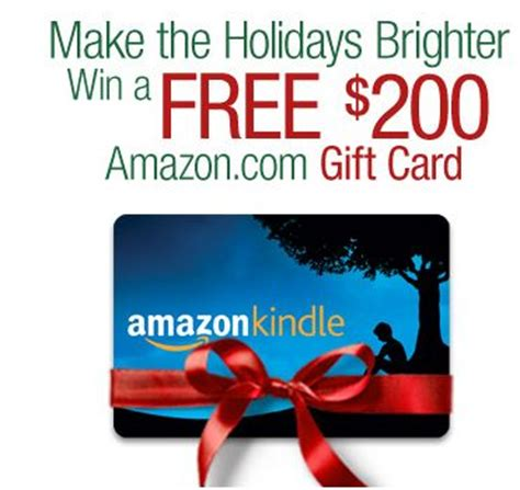 Kindle Gift Card Online - kindle fire holiday gift card giveaway win a 200 amazon com gift card 10 winners