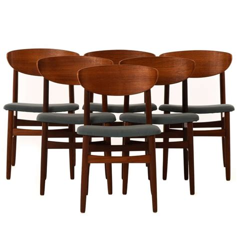 danish modern dining room chairs set of six danish modern dining chairs at 1stdibs