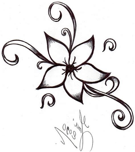 Drawing Flowers by Cool And Easy Flowers To Draw Cool Simple Flower Designs
