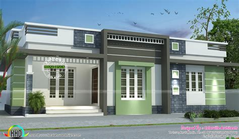 one home one floor box model home design kerala home design and