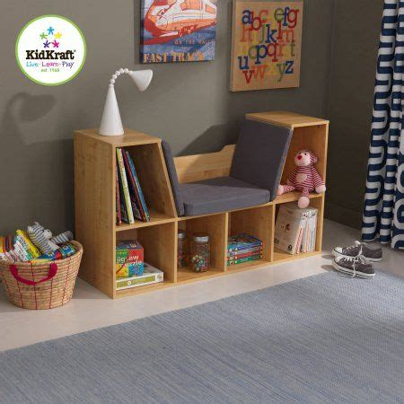 kidkraft bookcase with reading nook kidkraft bookcase with reading nook natural beige