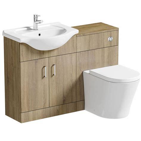 victoria plumb bathroom vanity units sienna oak arc combination vanity unit small