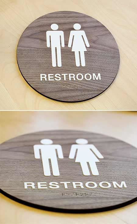 ada bathroom sign stylish restroom signs ada braille wood bathroom signs