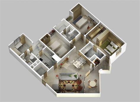 Membangun Dapur Apik Nyaman 44 gambar desain 3d denah rumah minimalis 1 lantai kamar