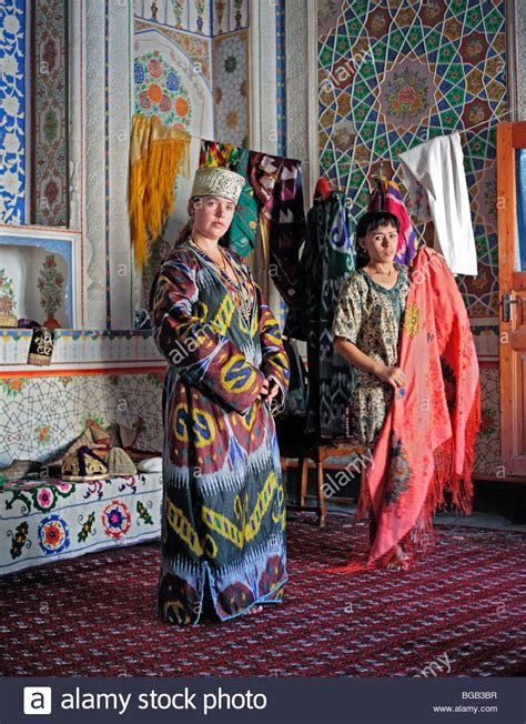 women uzbek stock photos women uzbek stock images alamy woman in uzbek traditional costume bukhara uzbekistan