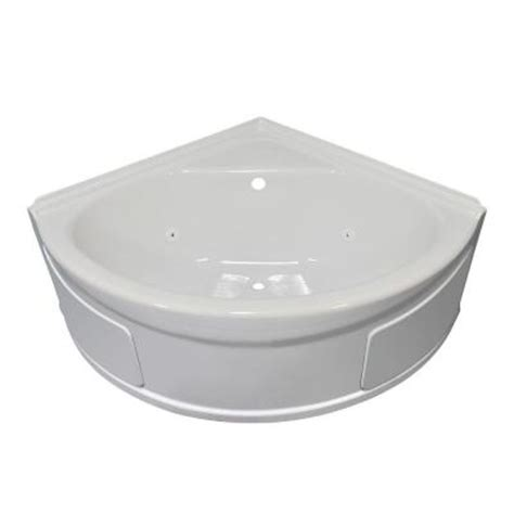lyons bathtub lyons industries sea wave 4 ft whirlpool tub with center drain in white svw01484820
