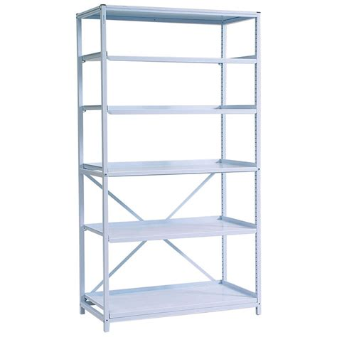 width metal shelving with 5 metal shelves gratnells