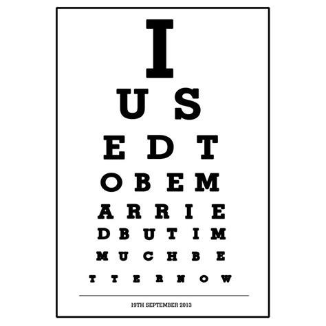 printable 8 x 11 eye chart personalised divorce eye chart print by of life lemons