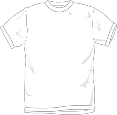 template t shirt white white tshirt template clipart best