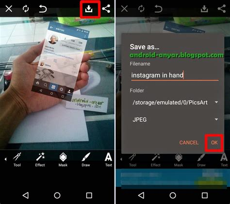 tutorial best nine on instagram cara mudah membuat foto instagram in hand dengan picsart