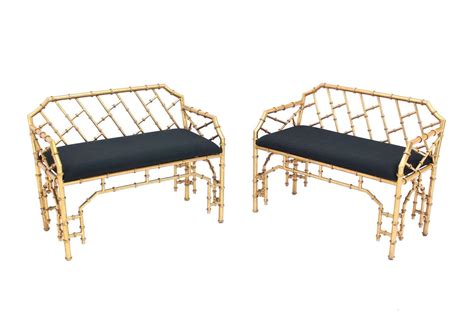 window benches for sale pair of faux bamboo window benches for sale at 1stdibs