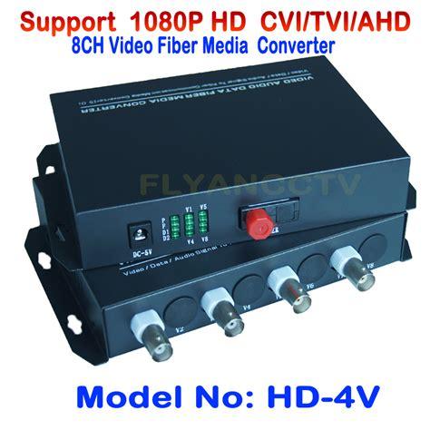 Fiber Optik Analog Cctv Media Converter 4 Channel 4 channel 1080p hd cvi ahd tvi fiber media converter optical coaxial for 1080p 720p hd ahd